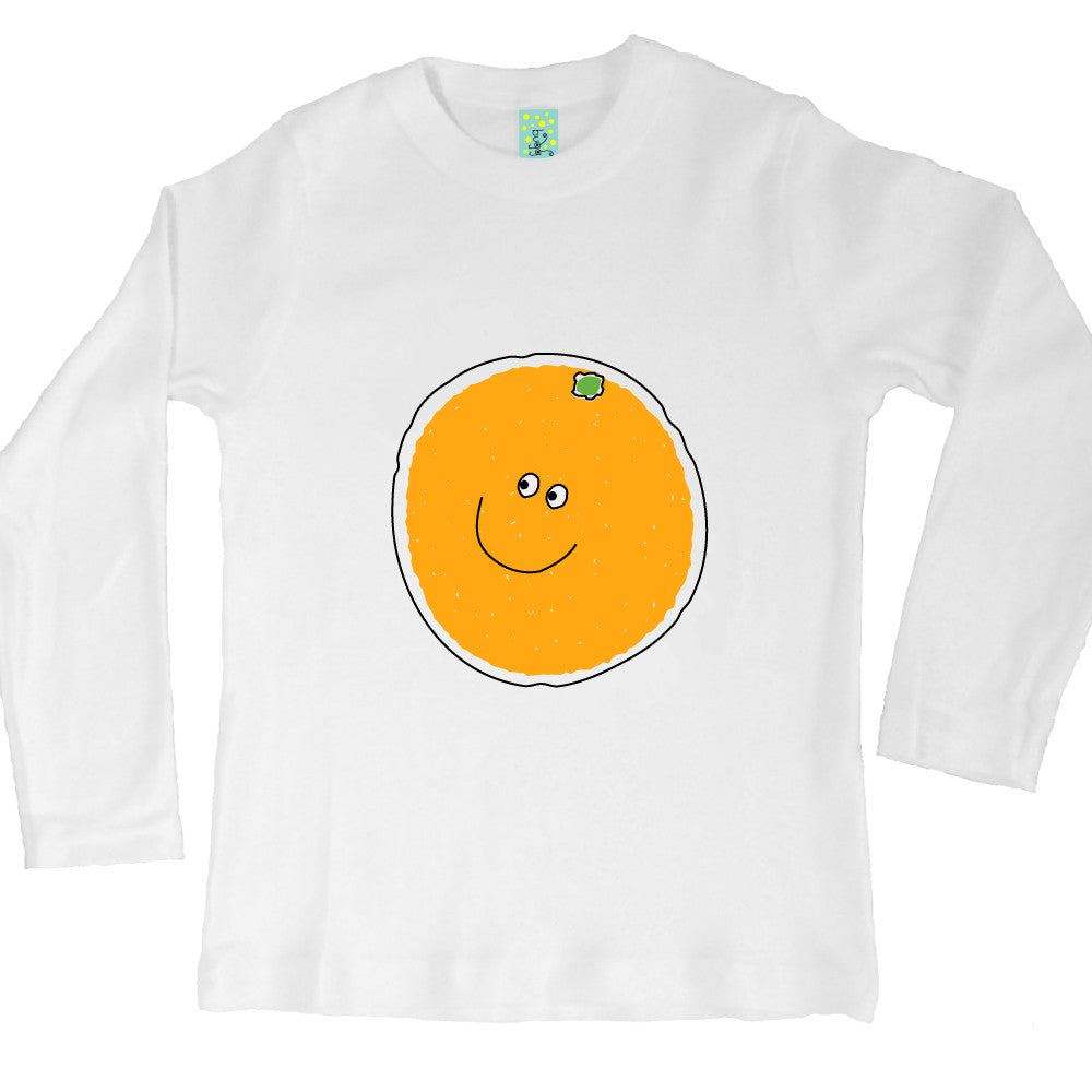 Bugged Out orange long sleeve kids t-shirt