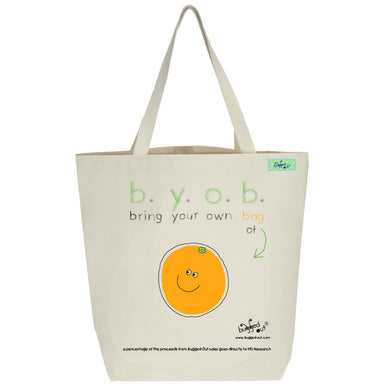 Bugged Out orange tote bag