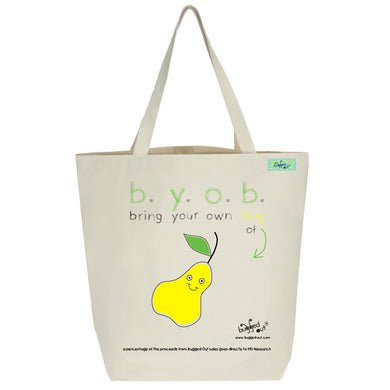 Bugged Out pear tote bag