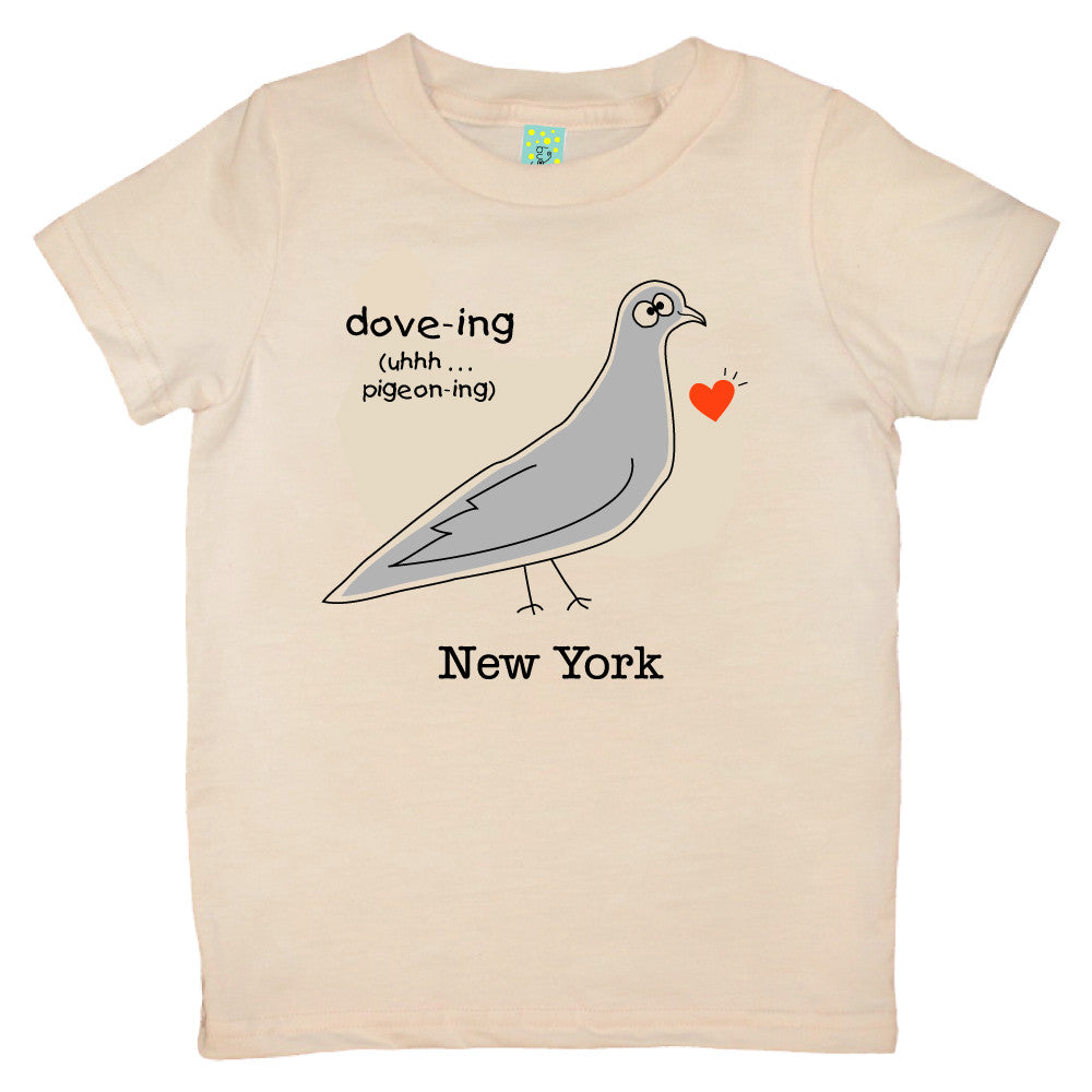 Bugged Out pigeon short sleeve kids t-shirt