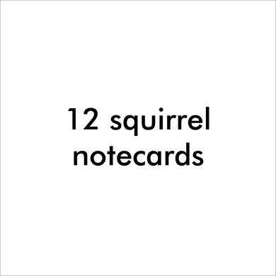 Bugged Out squirrel note cards