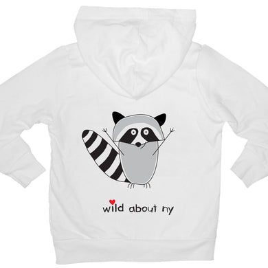 Bugged Out raccoon kids hoodie