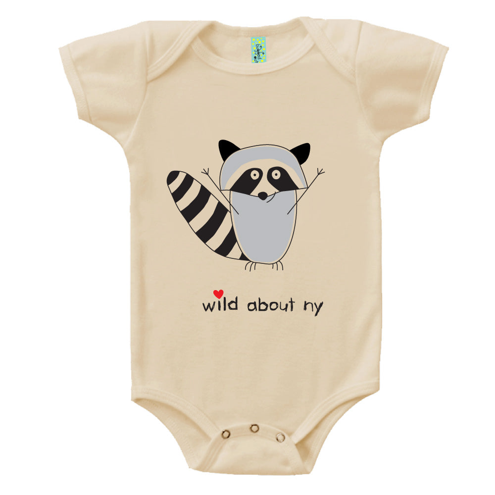 Bugged Out raccoon short sleeve baby onesie