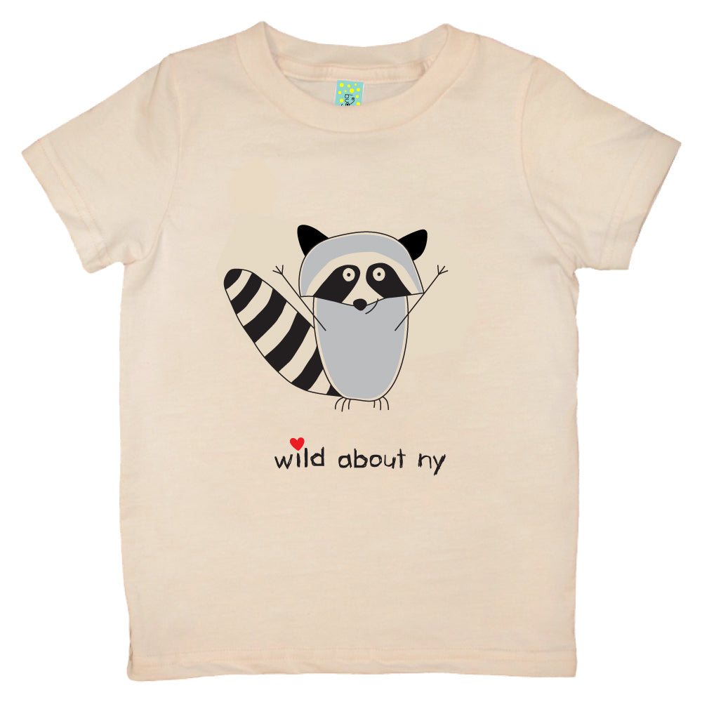 Bugged Out raccoon short sleeve kids t-shirt