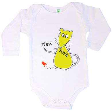 Bugged Out rat long sleeve baby onesie