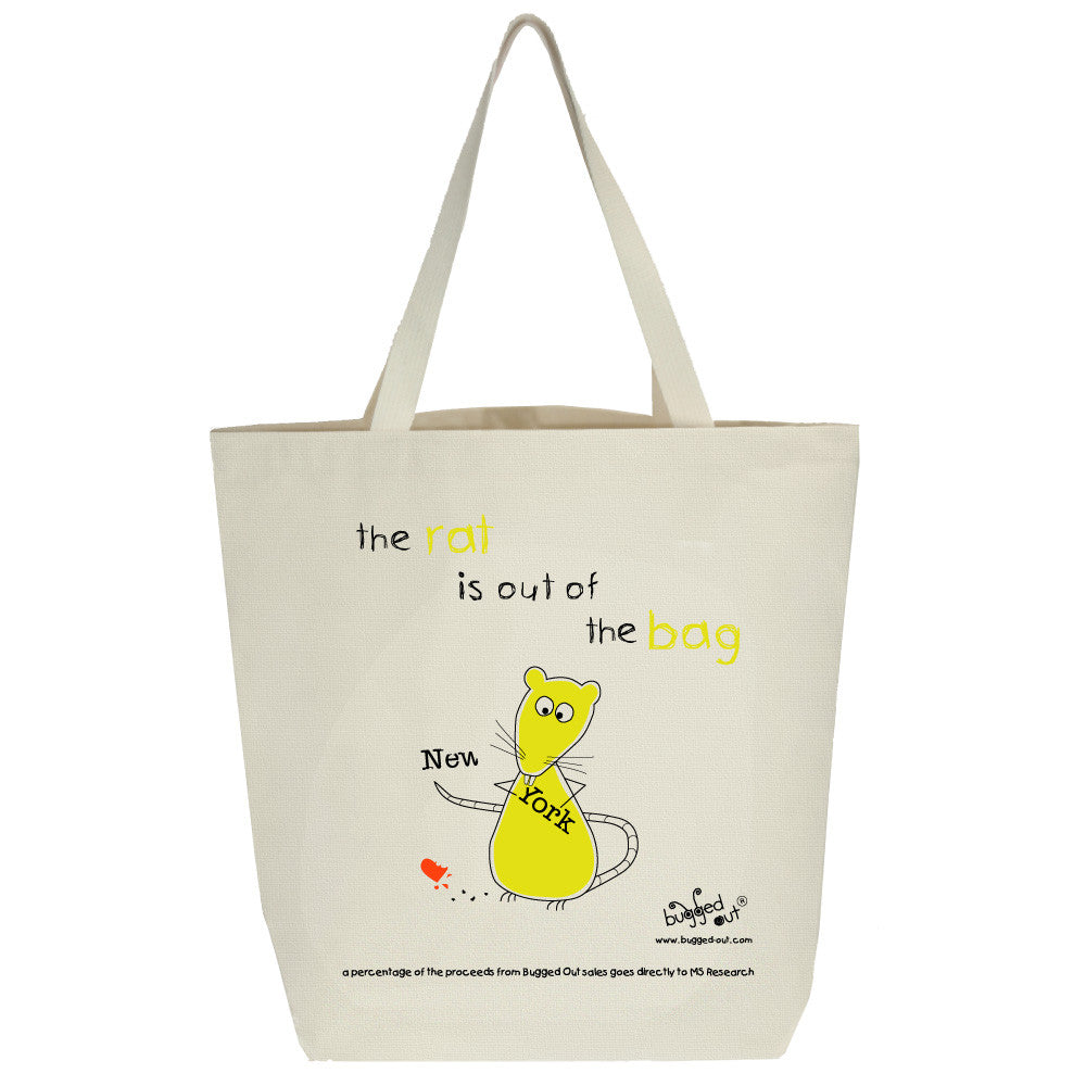 Bugged Out rat tote bag