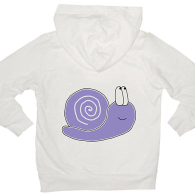 Bugged Out snail kids hoodie
