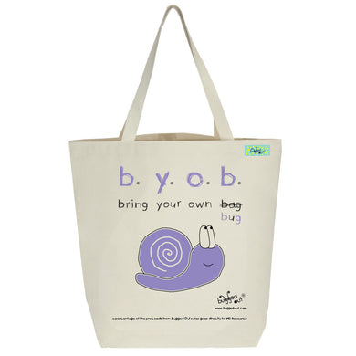 Bugged Out snail tote bag