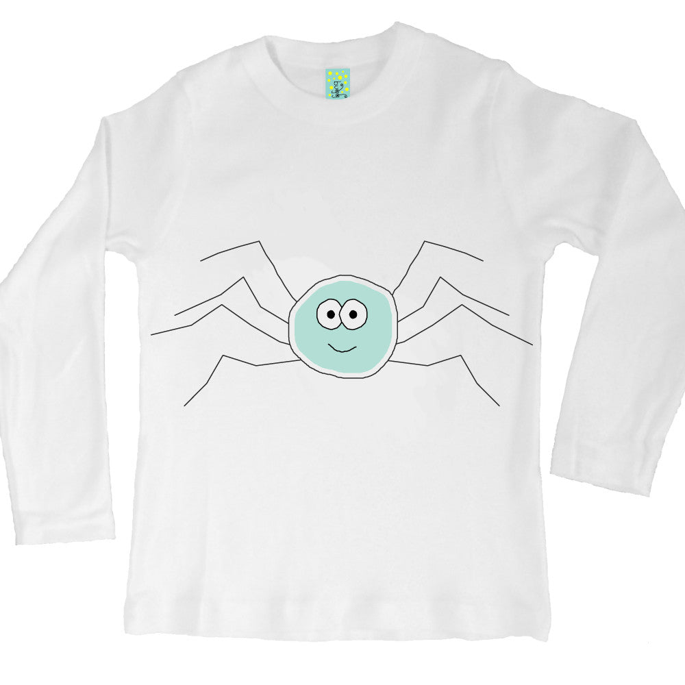 Bugged Out spider long sleeve kids t-shirt