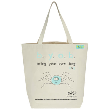 Bugged Out spider tote bag
