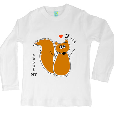 Bugged Out squirrel long sleeve kids t-shirt