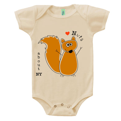 Bugged Out squirrel short sleeve baby onesie