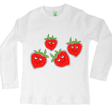 Bugged Out strawberry long sleeve kids t-shirt
