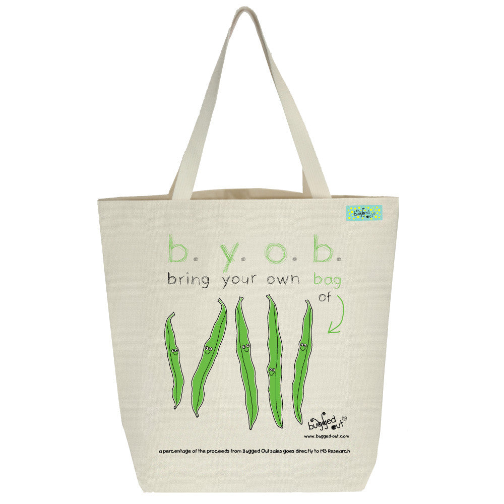 Bugged Out stringbean tote bag