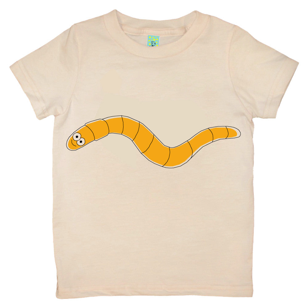 Bugged Out worm short sleeve kids t-shirt