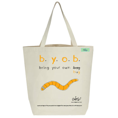 Bugged Out worm tote bag