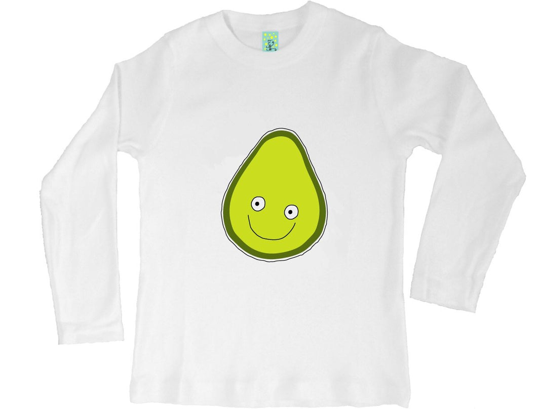 Bugged Out avocado long sleeve kids t-shirt