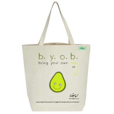 Bugged Out avocado tote bag