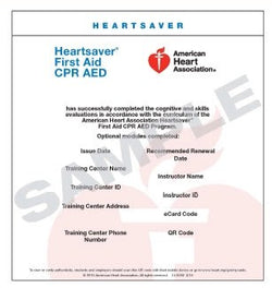 Heartsaver First Aid CPR AED eCard 2015