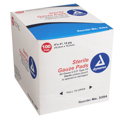 Gauze Pad Sterile - Individually Packed - 12 Ply - Box of 100