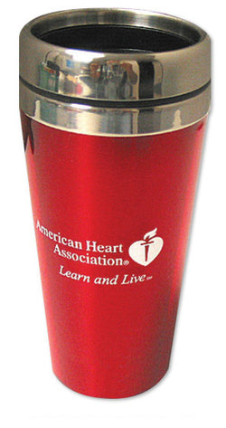 AHA Red Travel Mug