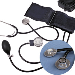 Blood Pressure Kit - Dual Head Stethoscope - Case of 10 Sets