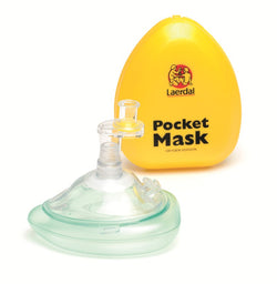 Pocket Mask with O2 Inlet, Headstrap in Hard Case - Pack of 10
