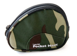 Pocket Mask with O2 Inlet, Headstrap,  Gloves in Camo Soft Case - Pack of 10