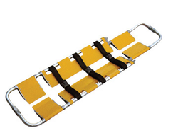 Aluminum Break Apart Stretcher - Load Limit 350lbs - w/ 3 Patient Restraint Straps