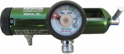 OXYGEN REGULATOR 0-25 LPM - 1 BARB - 2 DISS VALVES