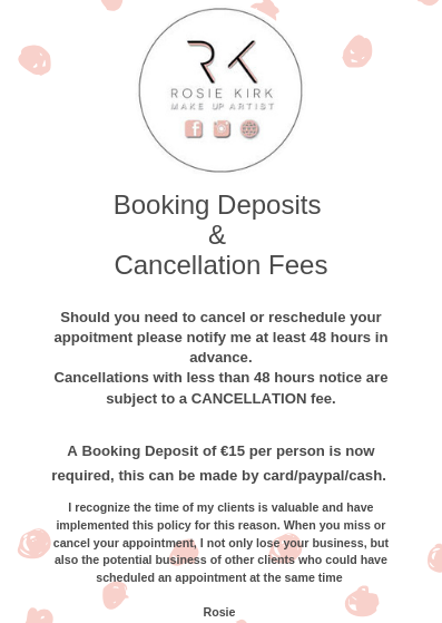 Cancellation & Booking Fees