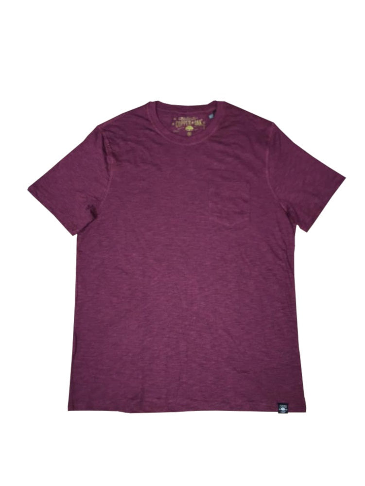 Copper & Oak Mens Short Sleeve Soft Cotton-Blend Crew T-Shirt w/Chest Pocket