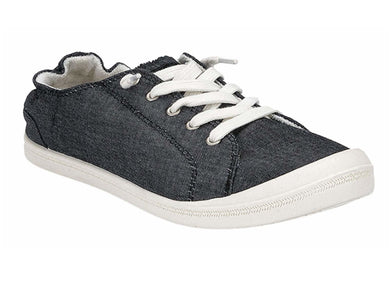 Margaritaville Ladies Comfort Lace-Up Scrunch Back Soft Canvas Shoe