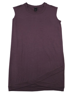 Active Life Womens Size X-Large Sleeveless Crew Neck Casual Dress, Dusty Plum