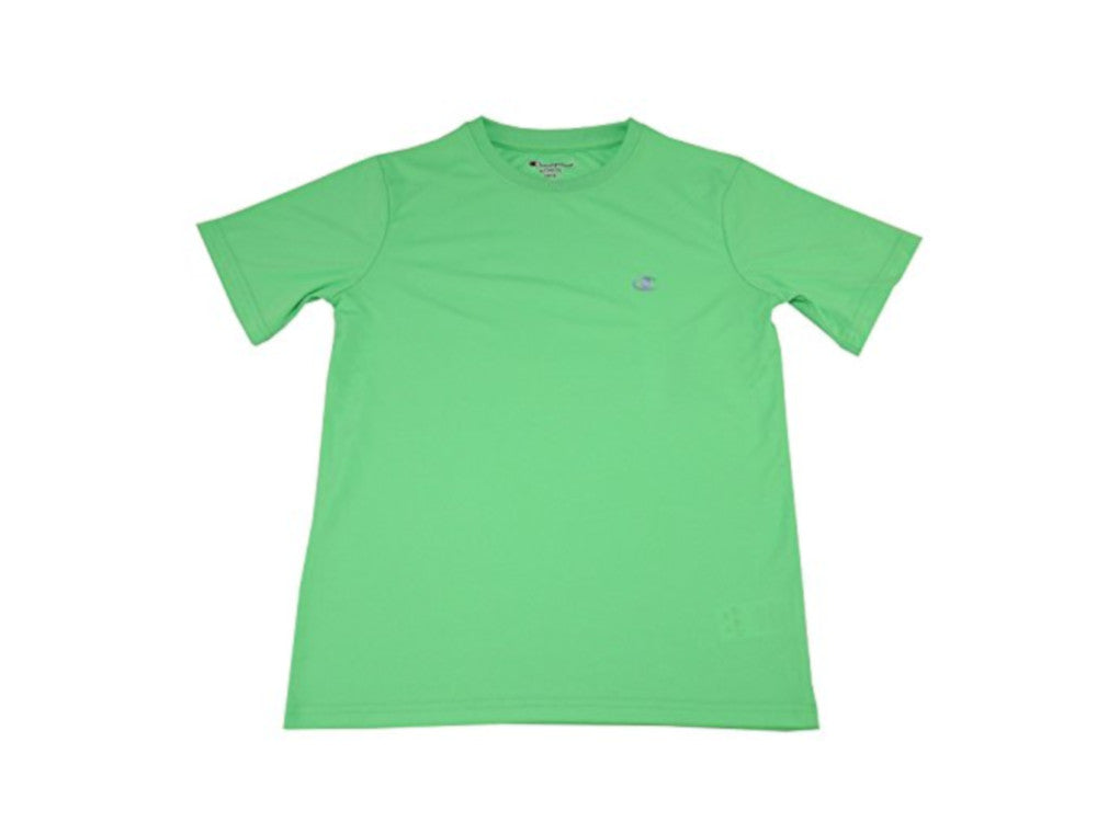 Champion Authentic Boys Size 14/16 Short Sleeve Athletic Shirt, Neon Green Light (Power Train)