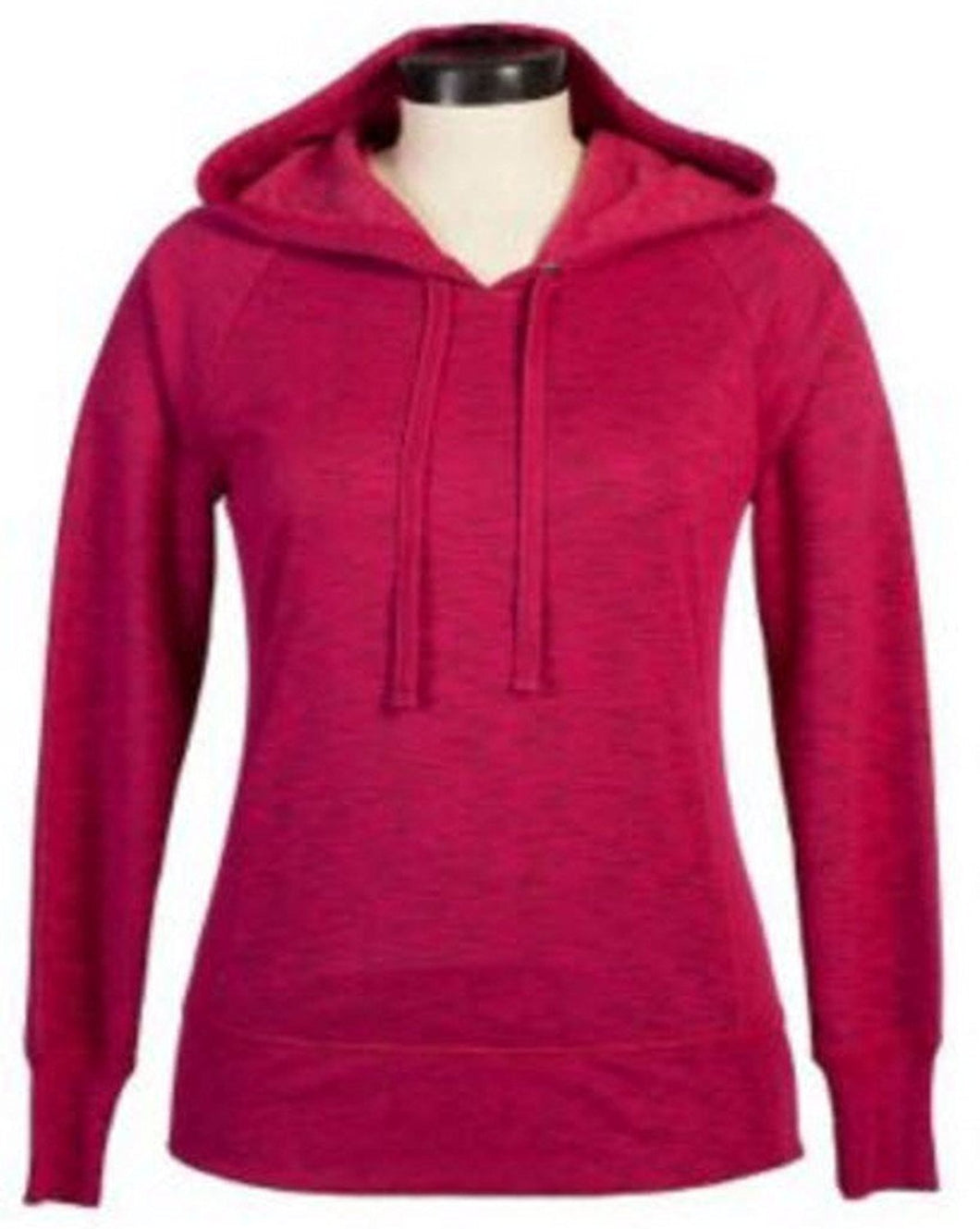 Green Tea Womens Size Small Pullover Hooded Sweater, Wine