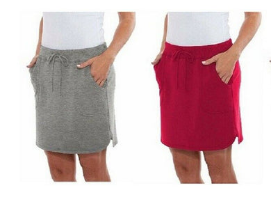 (2-Pack) Balance Collection Women's Size X-Large Weekend Skirt, Multi-Color