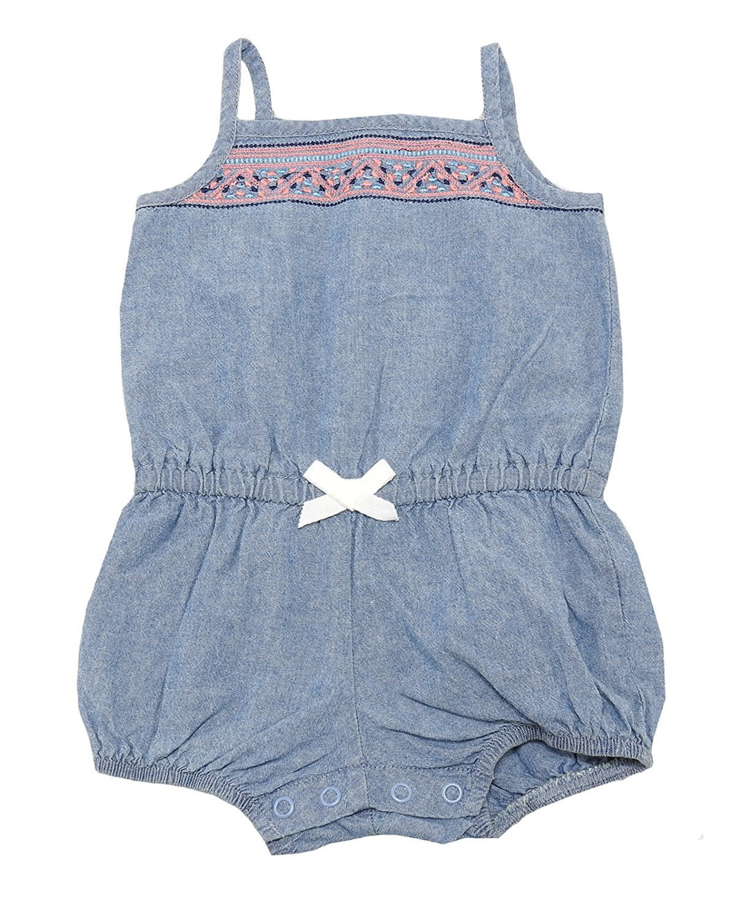 Carters Baby Girls Size 6 Months Sleeveless Short Romper, Blue