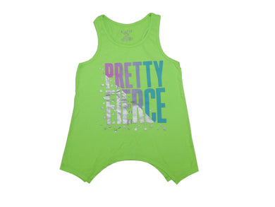 Members Mark Girls Size 10/12 Racerback Tank Top, Neon Kiwi