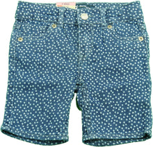 Levi's Baby Girls Size 2T (Toddler) Polka Dot Bermuda Shorts, Denim Blue/White