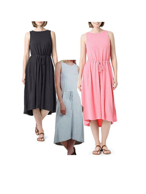 (3-Pack) The Limited Women's Modal French Terry Midi Dress w/Hi Low Hem, Multi
