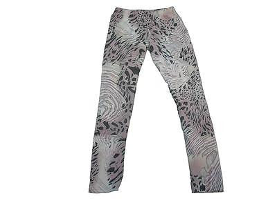 Chuns Ladies Size One Size Fits Most Leggings Animal Design Purple & Black