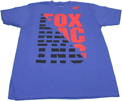 Fox Racing Men's Size Large Short-Sleeve Racing Stripes T-Shirt- Purple Haze