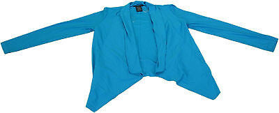 Grace Elements Ladies Size Large Long Sleeve Designer Cardigan, Blue Canvas