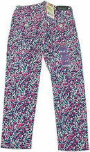 Levi's Girl's Sateen Leggings Size 5 Regular Navy with Multiple Color Geometric