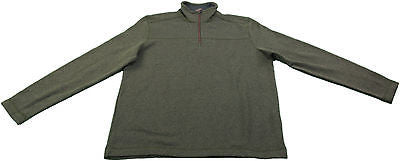 G.H. Bass & Co. Men's 1/4 Zip Rock Fleece Pullover Sweater, Olive Night Heather