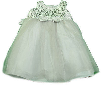 Marmellata Classics Toddler Special Occasion Dress Silver & White