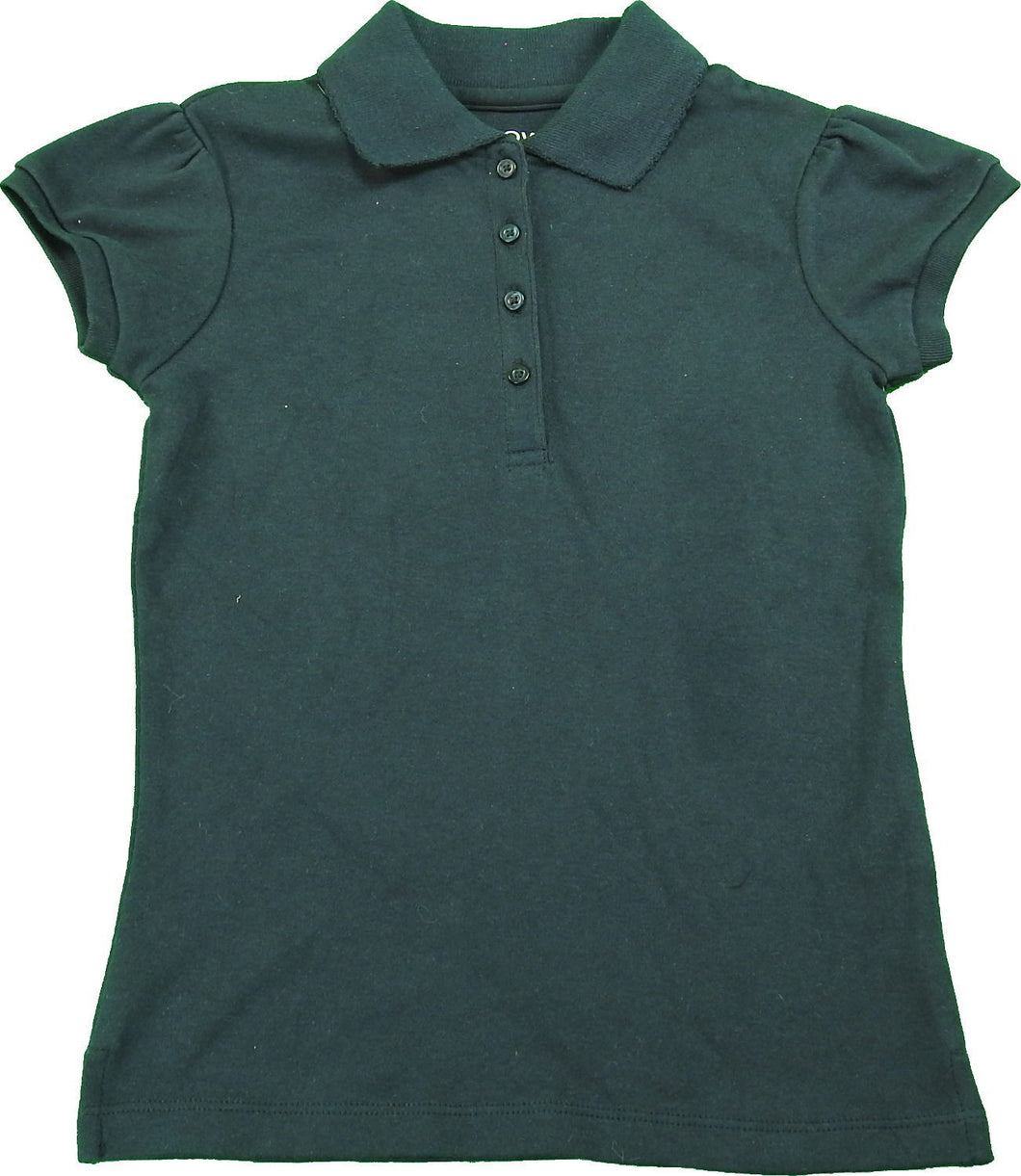 Arrow Girls Size Small (6/7) Short Sleeve School Uniform Polo, Navy