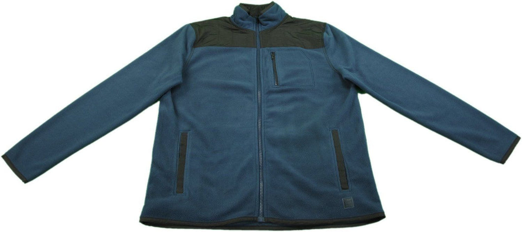 Calvin Klein & Co Men's Size Large  Full Zip High Collar Fleece Jacket, Navy Amanda