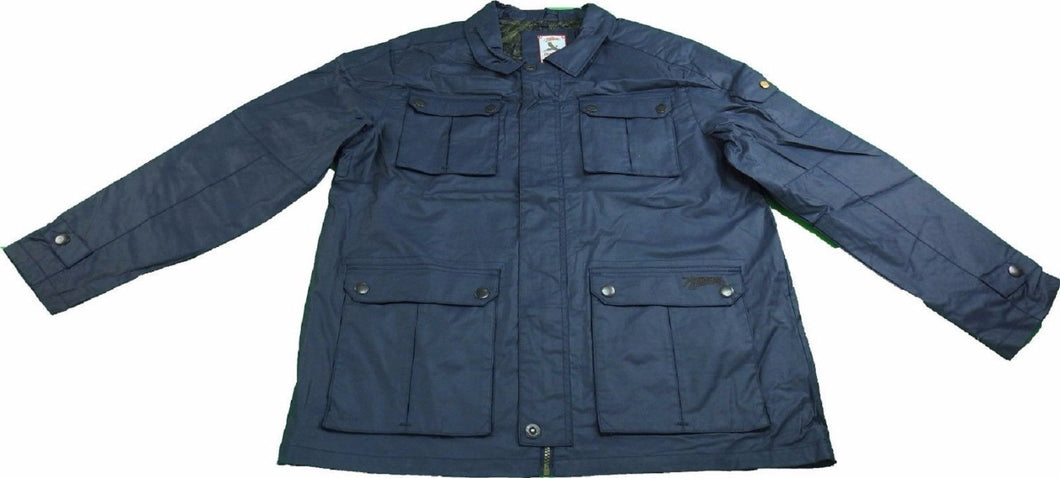 American Outdoorsman The Huntsman Series Men's Size Large Rain Jacket, Navy